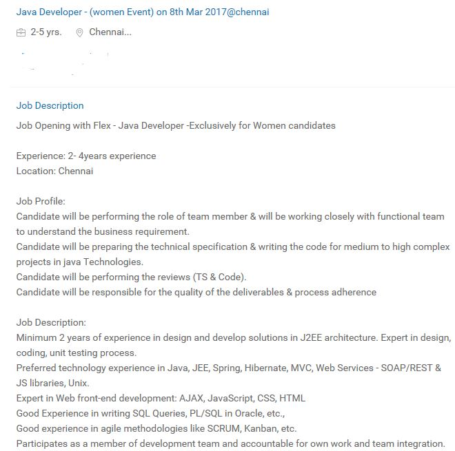 java developer job description