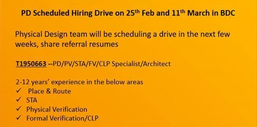physical design jobs resumes