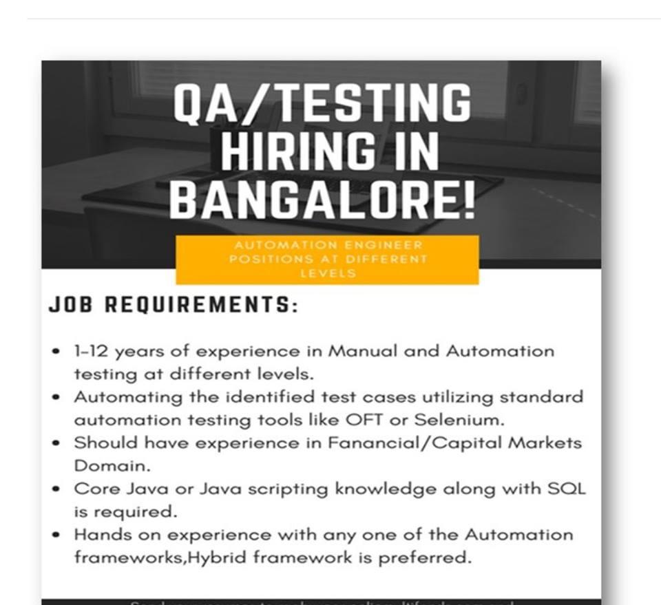 Mnl-2891] manual testing jobs at bangalore | 2019 ebook library.